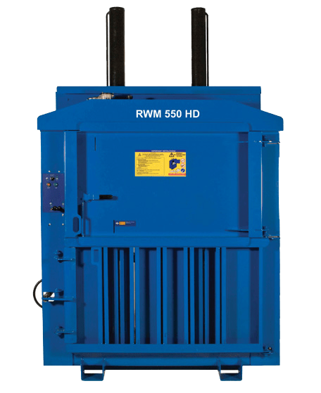RWM550 heavy duty waste baler from Riverside Waste Machinery
