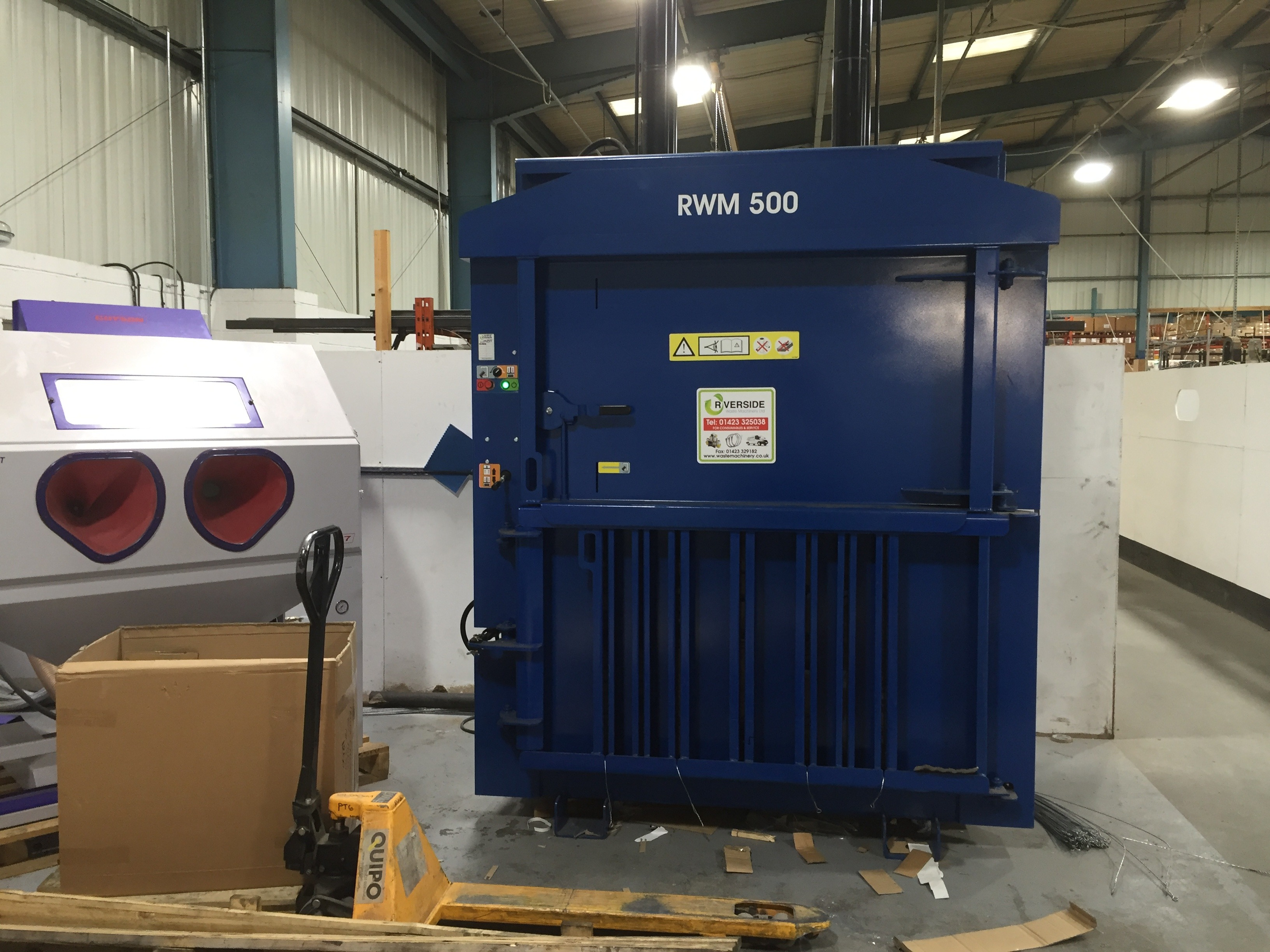 Motor manufacturer boosts recycling agenda with Riverside waste baler