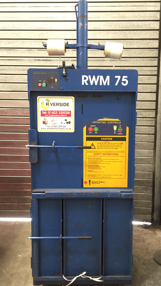Low cost RWM 75 compact waste baler