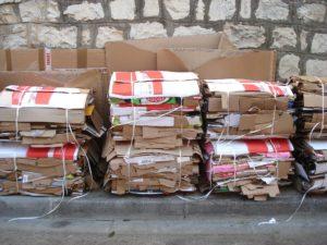 Cardboard bales