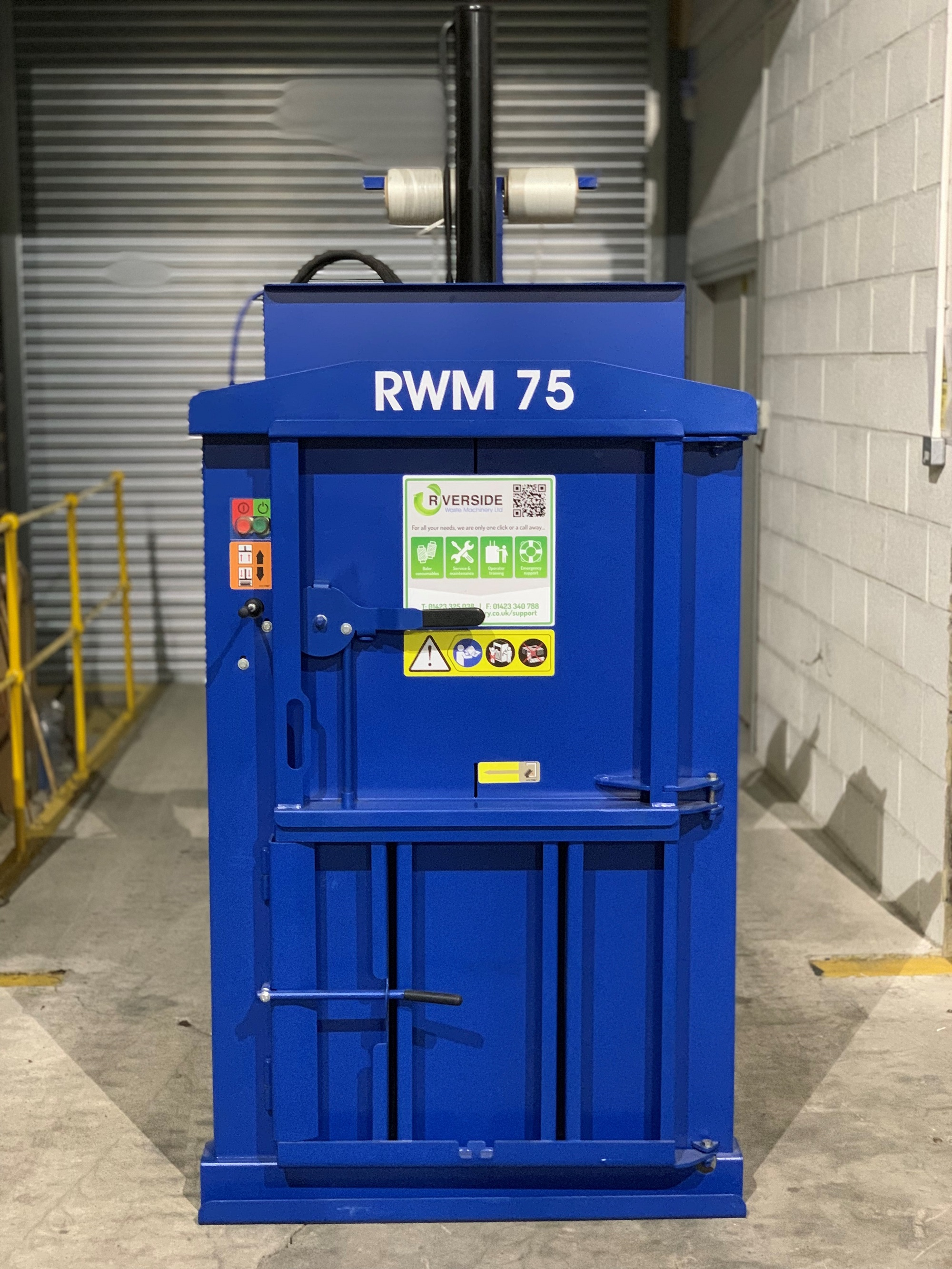 Excellent condition compact waste baler (RWM75)