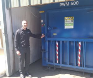 Riverside waste baler at James Dawson