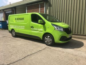 Riverside Waste Machinery's newly-wrapped van