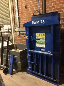 Riverside waste baler at Eximious HQ