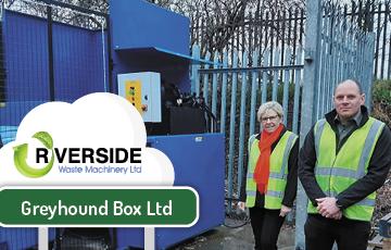 Cardboard box manufacturer invests in Riverside compactor