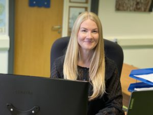 Charlotte Walker, office manager, Riverside Waste Machinery